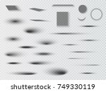 vector shadows isolated. set of ... | Shutterstock .eps vector #749330119