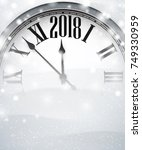 grey 2018 new year background... | Shutterstock .eps vector #749330959
