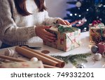 gifts must be ready for... | Shutterstock . vector #749332201