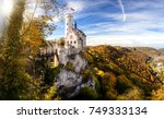 germany famous view of... | Shutterstock . vector #749333134