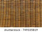 wicker basket texture background | Shutterstock . vector #749335819
