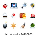 security icons | Shutterstock .eps vector #74933869