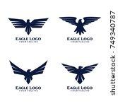 eagle bird logo design | Shutterstock .eps vector #749340787