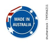 made in australia label... | Shutterstock .eps vector #749346211