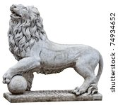 Isolated Stone Lion From...