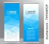 blue roll up business brochure... | Shutterstock .eps vector #749348929