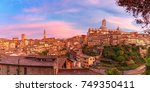 beautiful panoramic view of old ... | Shutterstock . vector #749350411