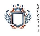 blank heraldic coat of arms... | Shutterstock .eps vector #749352469