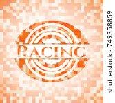 Racing Orange Mosaic Emblem...