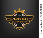 poker championship emblem on a...   Shutterstock .eps vector #749360131