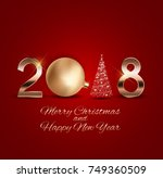 2018 new year background with... | Shutterstock .eps vector #749360509