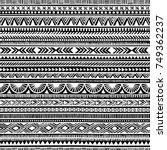 seamless ethnic pattern.... | Shutterstock .eps vector #749362237