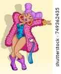 sexy girl dancing  vector...   Shutterstock .eps vector #749362435