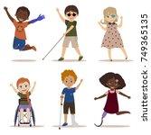 happy and active children with...   Shutterstock .eps vector #749365135