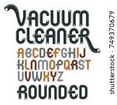 vector upper case modern... | Shutterstock .eps vector #749370679
