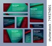 set of vector flyers. business... | Shutterstock .eps vector #749374801