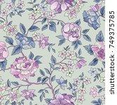 floral seamless pattern. flower ...   Shutterstock .eps vector #749375785
