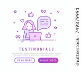testimonials and quote concept. ... | Shutterstock .eps vector #749379991