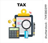 tax accounting  budget... | Shutterstock .eps vector #749380399