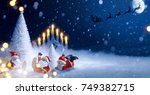 christmas tree and holidays... | Shutterstock . vector #749382715