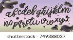 3d letters. metal alphabet.... | Shutterstock .eps vector #749388037