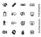 engineering vector icons for... | Shutterstock .eps vector #749390095