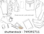 vector illustration of hand... | Shutterstock .eps vector #749392711