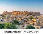 jaisalmer fort at sunrise ... | Shutterstock . vector #749393644