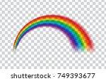 transparent rainbow. vector... | Shutterstock .eps vector #749393677