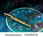 Wheel Of The Zodiac And...