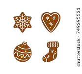 new year collection. christmas... | Shutterstock .eps vector #749395531