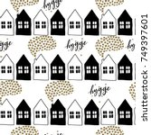 seamless pattern of... | Shutterstock . vector #749397601
