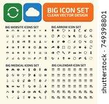 big icon set vector | Shutterstock .eps vector #749398801