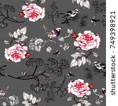seamless floral pattern with...   Shutterstock . vector #749398921