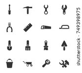 work tools vector icons for... | Shutterstock .eps vector #749398975