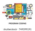 modern flat editable line...   Shutterstock .eps vector #749399191