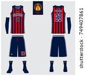 basketball uniform or sport... | Shutterstock .eps vector #749407861