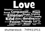 love word cloud | Shutterstock . vector #749411911