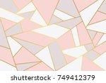 pink grey geometry background. | Shutterstock .eps vector #749412379