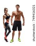 sport  fitness  workout concept.... | Shutterstock . vector #749416321