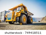 heavy machinery. dump truck in...   Shutterstock . vector #749418511
