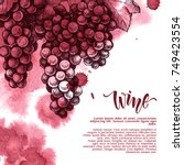 vector background with wine... | Shutterstock .eps vector #749423554