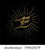 happy new year wish greeting... | Shutterstock .eps vector #749425579