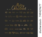merry christmas brush lettering ... | Shutterstock .eps vector #749429677