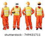 construction worker uniform in... | Shutterstock . vector #749431711