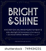 silver or chrome metallic font... | Shutterstock .eps vector #749434231