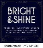 silver or chrome metallic font... | Shutterstock .eps vector #749434231