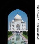 agra  india   september 29 ... | Shutterstock . vector #749439451