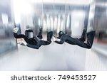 indoor skydiving | Shutterstock . vector #749453527