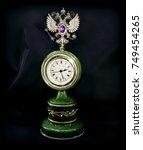 vintage luxury stone wall clock ... | Shutterstock . vector #749454265